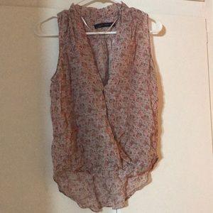 Zara paisley floral blouse